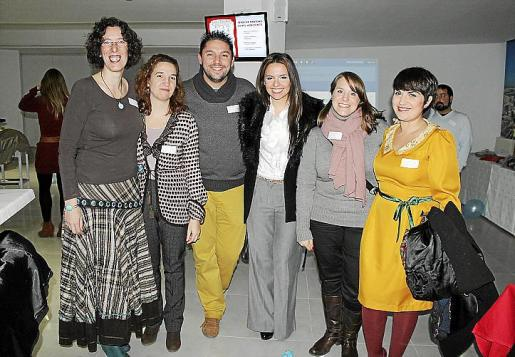 Emma Granado, Joana Maria Alemany, Juanra martínez, Alba Soto, Laura García y Catiana Alomar