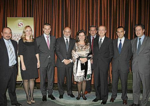 Pedro Grimalt, Teresa Vidal, Javier Bonet, Francisco Pérez de los Cobos, Teresa Tarabini, Bartolomé Bosch, Antonio Terrassa, Joaquín García y Jesús La Era.