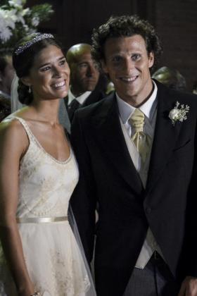 El futbolista uruguayo Diego Forlán y su novia Paz Cardoso .