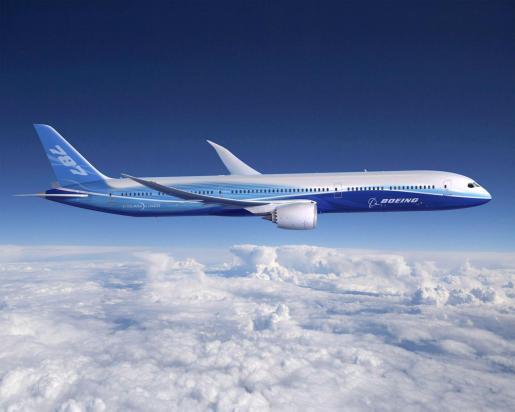 Foto de archivo cedida por la compañía Boeing en Seattle, que muestra una recreación del nuevo modelo 787 Dreamliner.