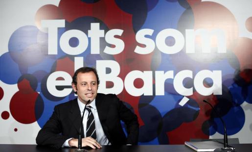Sandro Rosell, candidato a la presidencia del F.C. Barcelona.