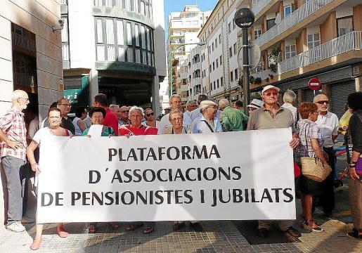 Imagen de archivo de una de las protestas de la Plataforma de Pensionistes i Jubilats.