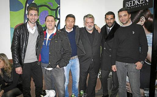 Joan Andreu Bennàssar, Juan Moncadas, Joan Miquel Martorell, Eduardo Carrasco, Javier Perelló y Fernando García.