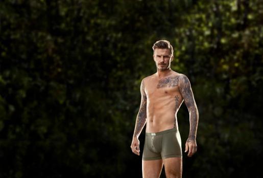 David Beckham, en un anuncio de ropa interior.