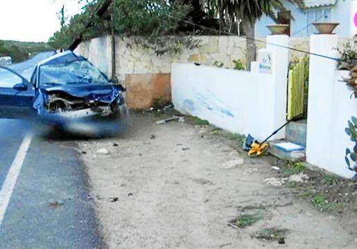 Lugar en el que se produjo el accidente, a la salida de es Pujols.