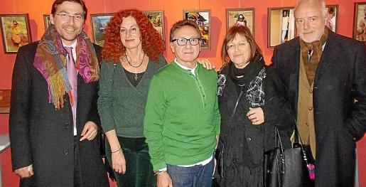 Daniel Romero, Catalina Sureda, Jaime Llabrés, Marilén Planas y Miguel Campins.