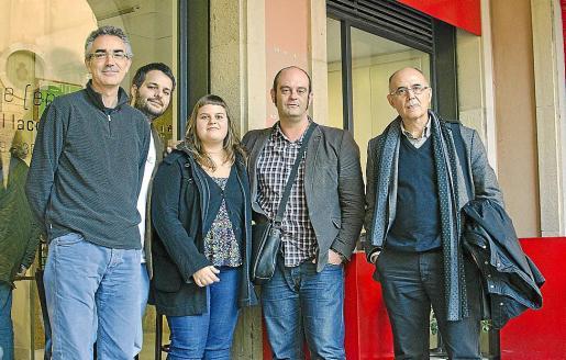 Jaume Reus, Antoni Trobat, Neus Ferrer, Sebastià Alzamora e Isidor Marí.