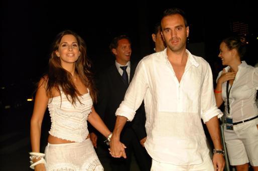 Nuria Fergó con su novio, en una imagen de archivo.