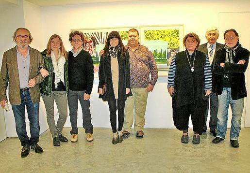 Ramon Canet, Natasha Lebedeva, Xisco Campins, Pilar Rubí, Pep Guerrero, Teresa Juan, Juan Nadal y Rafa Forteza.