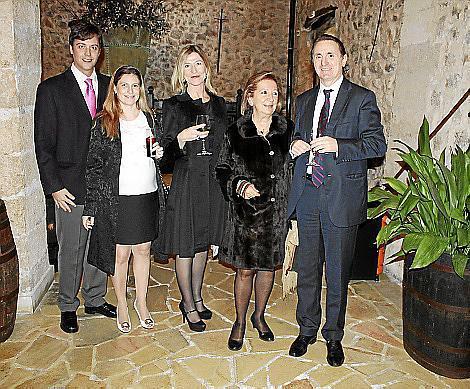 Emilio Martínez-Almoyna Rifá, Patricia Jorro, Isabel Bonet, María Ángeles Montaner y Pepe Alemany.