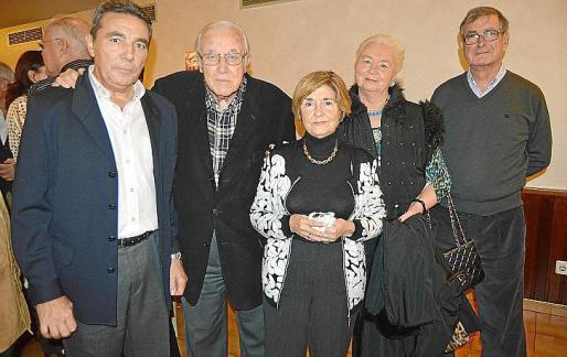 Basilio Sánchez, Tummy Bestard, Aina Ferrando, Olga Tyszkiewicz y Gabriel Méndez.