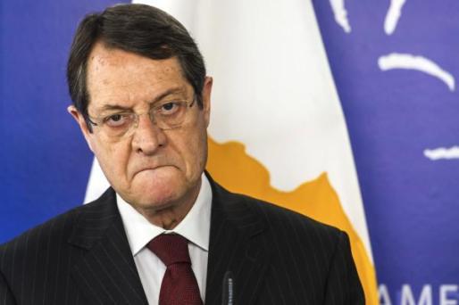 La televisión confundió el mensaje del actual presidente chipriota, Nikos Anastasiadis, con el de su antecesor.
