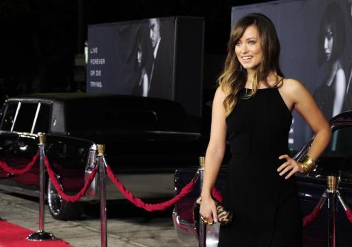 La actriz estadounidense y miembro del reparto Olivia Wilde a su llegada al estreno de la película 'In time'.