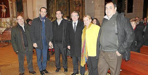 Concierto Año Pomar. Foto Lydia E. Larrey Emilio Arnau, José Ramón Bauzá, Tomeu Oliver, Joan Rotger ,Magdalena García y Xisco Ferrà.