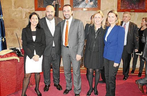 Imma de Benito, Jaime Martínez, José Luis Mateo, Luisa Hernández y Maria Salom