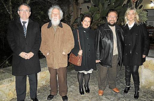 Joan Rotger, Antoni Caimari, Aida Vera, Pere Bonnín y Bel Cerdà.