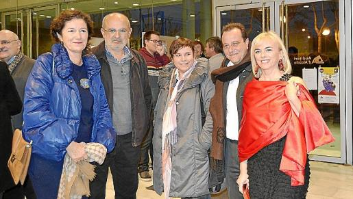 Margalida Solivellas, Miquel Cifre, Antònia Perelló, Pere Horrach y Ana Zacher.