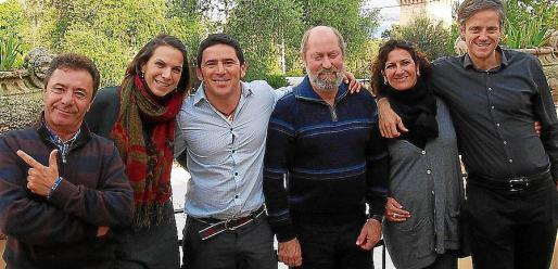 Manolo Vidal, Estefanía García, David Llobriza, Carlos Llaurador, Rosa Jordana y Juan Mesquida.