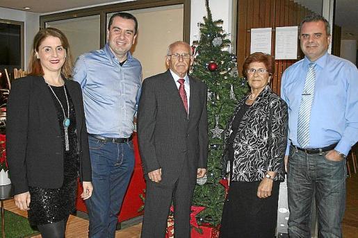 Ana Díaz-Toledo, Jorge Díaz-Toledo, Conce Díaz-Toledo, Catalina Mata y José Miguel Díaz-Toledo.