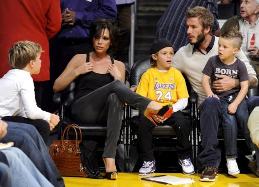 Los tres hijos de los Beckham podrían aparecer en un videoclip.