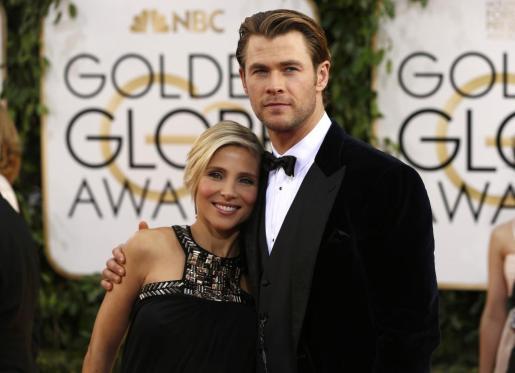 Chris Hemsworth y Elsa Pataky, en la gala de los Globos de Oro.