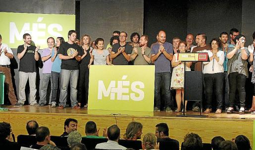 La dirección de Més, en el congreso de octubre de 2013. g Foto: JAUME MOREY
