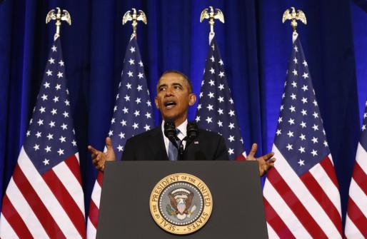 El presidente de Estados Unidos, Barack Obama, durante una comparecencia ante la prensa.
