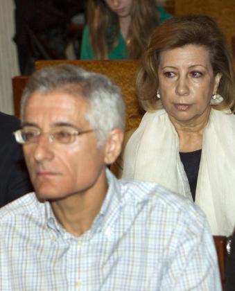 La expresidenta del Consell de Mallorca Maria Antònia Munar y el exconseller de Territorio Bartomeu Vicens durante el juicio del caso Can Domenge en el pasado mes de junio.