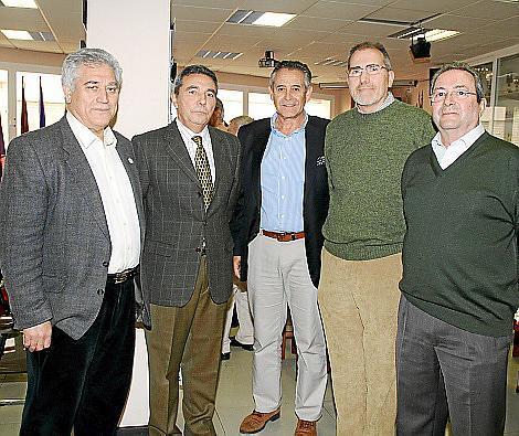 Iluminado Largo, Basilio Sánchez Rufo, José Francisco de la Peña, Juan Ramis y Luis Argiles.