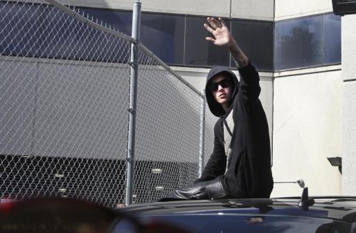 Justin Bieber, tras salir de la cárcel.