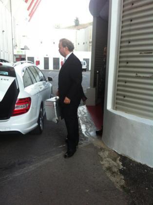 Utz Claasen, a su llegada a la reunión.