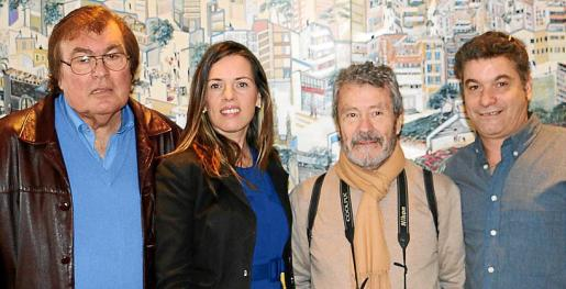 Miquel Bestard, Sally-Anne Wood, Carlos Navarro y Miquel Canals.