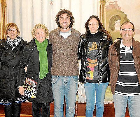 Aina Duran, Bel Riera, Antoni Lluís Reyes, Marisa Reyes y Paco Reyes.