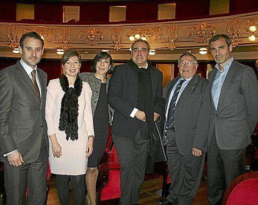 Antoni Martorell, María José Frau, Pilar Carbonell, Alfonso Robledo, Paco Frau y José Manuel Barquero.