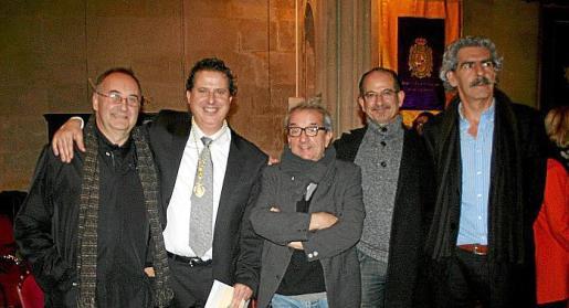Rafael Aguiló, Andreu Riera, Joan Bibiloni, Miquel Brunet y Pere Colom.