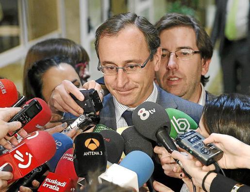 El portavoz del Grupo Parlamentario Popular en el Congreso, Alfonso Alonso.