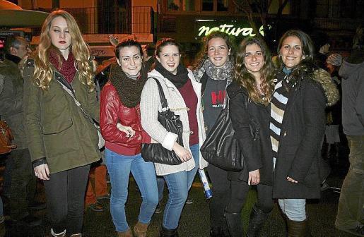 Norba Vicente, María Donaire, Julia Tarancón, Andrea Seguí, Inés Fageda y Cynthia Avenza.
