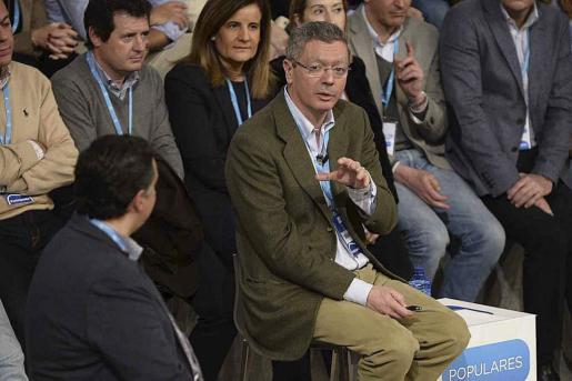 El ministro de Justicia, Alberto Ruiz Gallardón, participa en el diálogo 'La reforma de la Justicia' en la Convención Nacional del PP que se celebra en Valladolid.