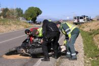 Accidente de motoristas entre Petra y Santa Margalida