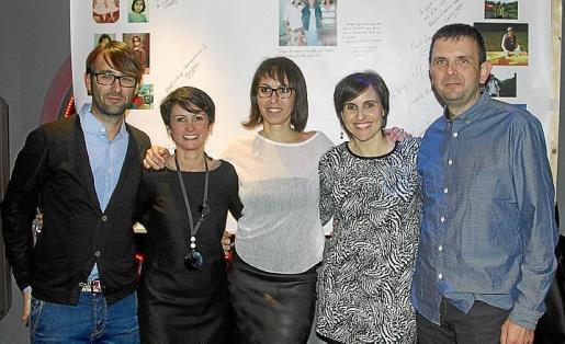 Francis Polo, Manena Pou, Elena Vallespir, Marisol Rodríguez y Óscar Esquembre.