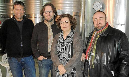 Pere Calafat, Tomàs Vibot, Caterina Valriu y Gracià Sánchez.