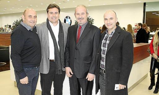 Tomeu Rosselló, Llorenç Ferragut, Jaume Carbonell y Toni Borrull