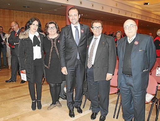 Sandra Fernández, Catalina Cirer , JR Bauzá, Llorenç Huguet y Miquel Alenyà