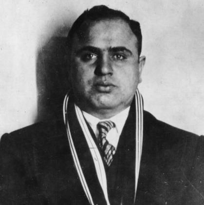 El famoso 'capo' de la mafia neoyorkina en los años 30, Al Capone.