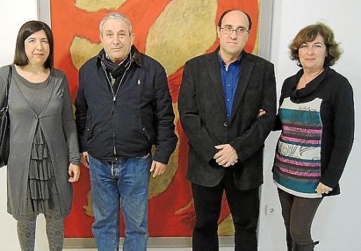Marga Sabater, Biel Perelló, Rafel Perelló y Maria Magdalena Marimón.