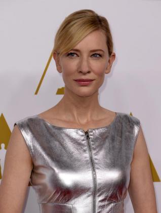 La actriz australiana Cate Blanchett, en el almuerzo anual de los nominados a la edición de los 86 Premios Oscar.