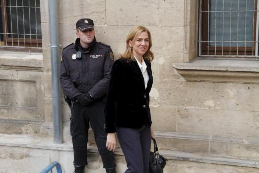 La infanta Cristina, llegando a los juzgados.