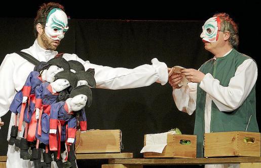 Pedro Victory y Josuè Guasch, ayer en un ensayo de 'Les aventures d'en Rotget.