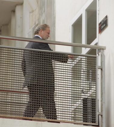 Claasen, a su llegada a la reunión.