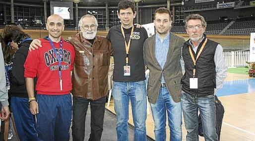 Víctor Bonnín, Tomás Monserrat, Joan LLaneras, Andreu Villalonga y Paco Cuenca.